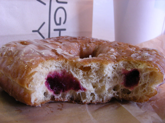 donut with bites taken out of it