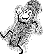 Corn King logo by S.V. Medaris