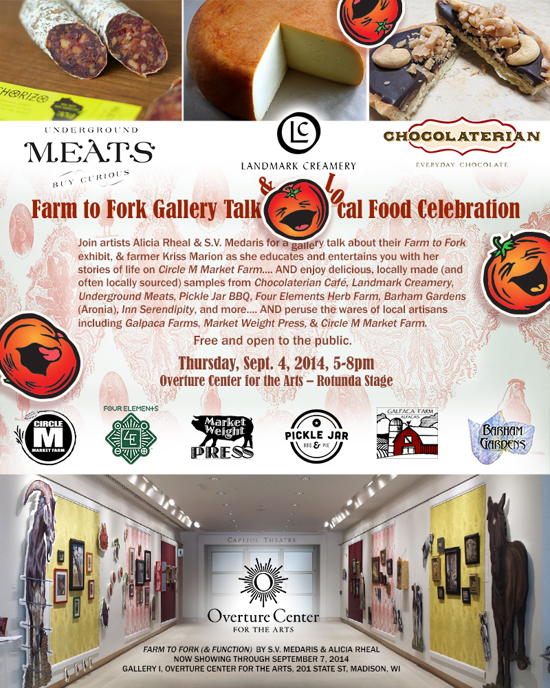 Farm to Fork Gallery Talk & Local Food Celebration poster
