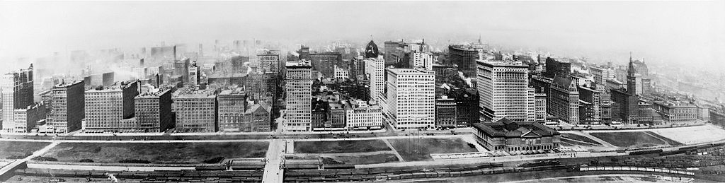 Birds eye view of Michigan Avenue, Chicago, 1911